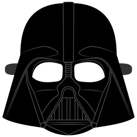 paper helmet template darth vader helmet mask template free printable