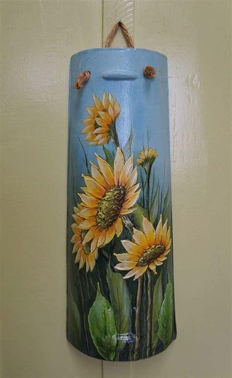 decorar jarrones con servilletas girasoles multicargado pinterest decoupage