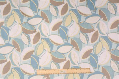 Mill Creek Upholstery Fabric by Mill Creek Chirick Printed Cotton Drapery Fabric In Aqua