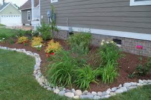 rustic touch of stone landscape edging landscaping gardening ideas