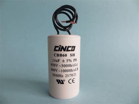 capacitor 50 kvar 400v 24mf 400v 450vac cbb60b wire motor run capacitors cinco capacitor china ac capacitors factory