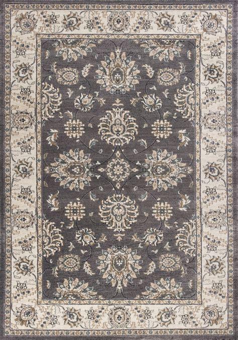 Avalon Rugs by Kas Avalon 5608 Grey Ivory Kashan Area Rug