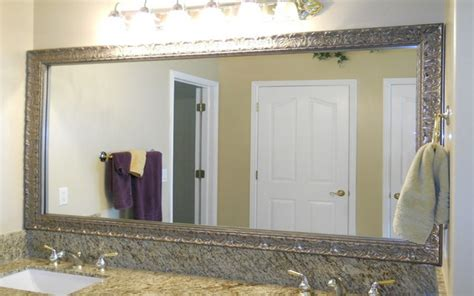 nickel framed bathroom mirror brushed nickel bathroom mirror as sweet wall decoration