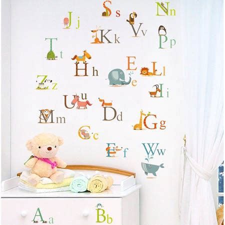 Alphabet Wall Decals 2017 Grasscloth Wallpaper Alphabet Nursery Decor
