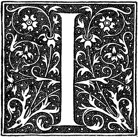 a i decorative initial letter i