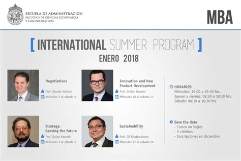 Summer 2018 Internship Mba Ignite Strategic Innovation by Destacados Profesores Internacionales Llegan A Impartir