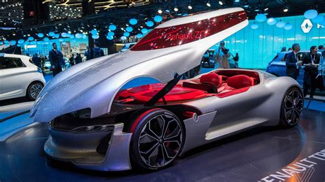 the renault trezor is the retro future concept car of my