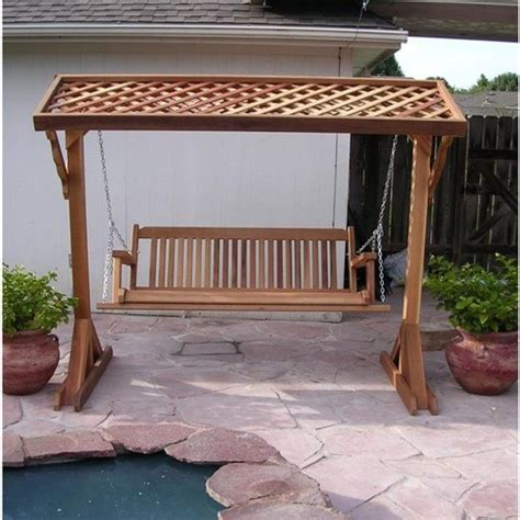 Porch Swings With Canopy by Wood Country Cabbage Hill Red Cedar Canopy Porch Swing Set