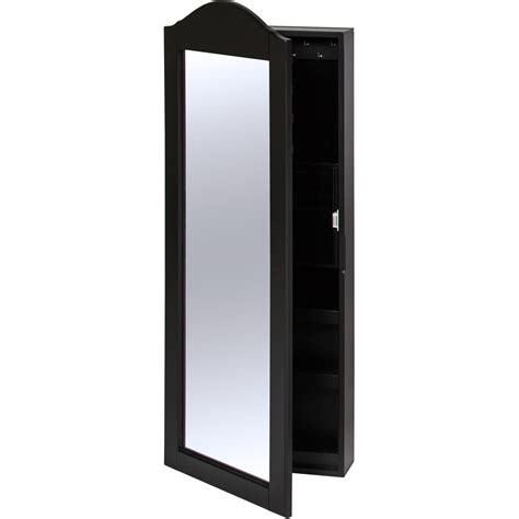 wall mounted jewelry armoire cabinet best choice products wall mounted mirror jewelry cabinet