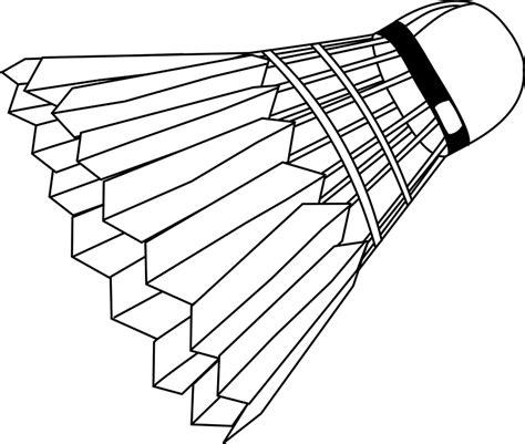 clipart badminton free vector graphic badminton shuttlecock free