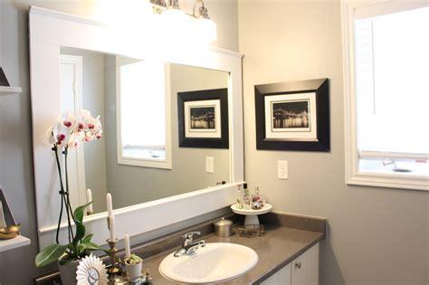 bathroom mirror makeover diy builder grade mirror makeover amidst the chaos