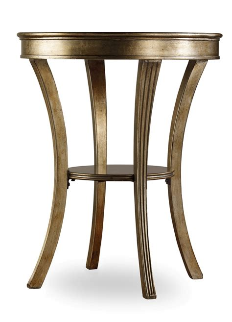 sanctuary round mirrored accent table end tables