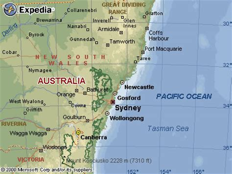 map of nsw central coast central coast map and central coast satellite image