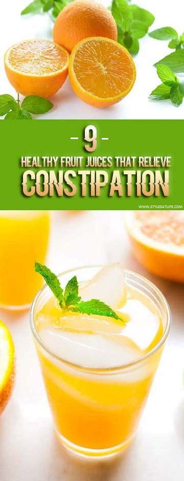 Can Juice Detox Cause Constipation by 9 Healthy Fruit Juices That Are To Relieve Constipation