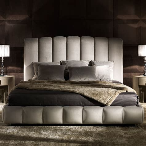 italian bedding italian designer padded nubuck leather bed
