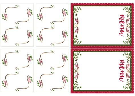 printable christmas menu cards i should be mopping the floor vintage christmas luncheon
