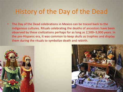 history of day for dia de los muertos powerpoint