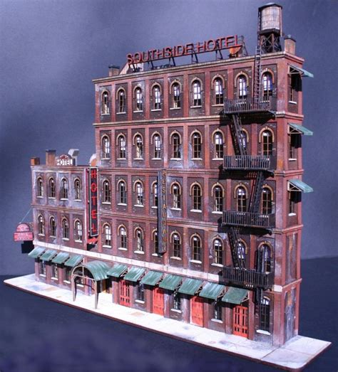 Simple Awning Design Ho Scale Southside Hotel Building Kits Itla Scale Models