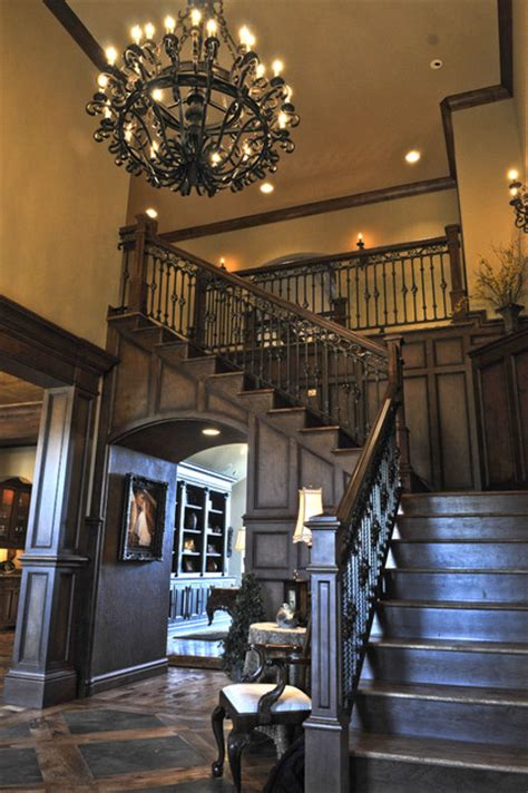 new home interior design hollywood tudor english tudor traditional staircase oklahoma city
