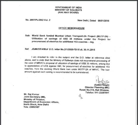 Loan Justification Letter cr mrvc mania mrvc rakes more