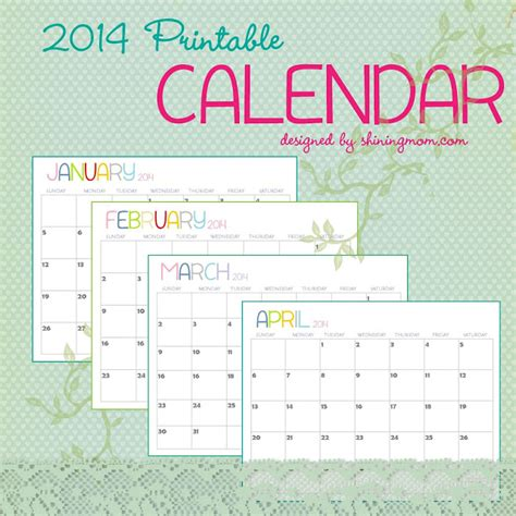 free monthly calendar template 2014 20 free printable calendars 2014 jaderbomb