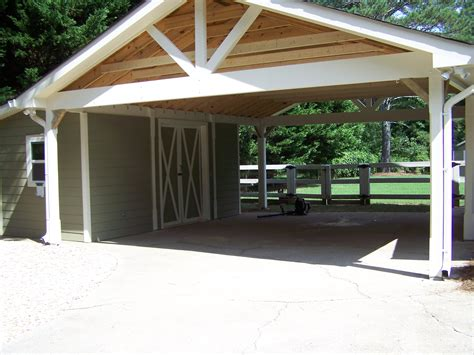 carport attached to garage kodiak steel homes standard models prefabricated steel