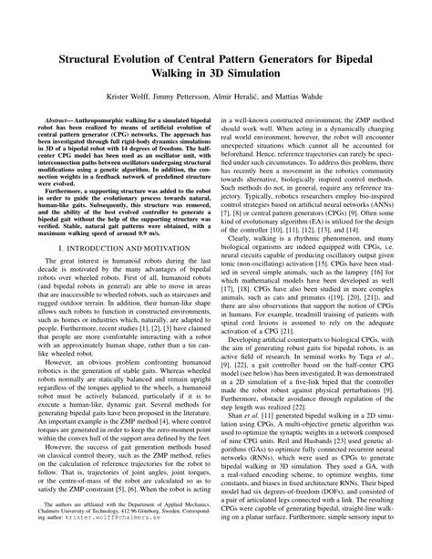 central pattern generator walking robot structural evolution of central pattern pdf download