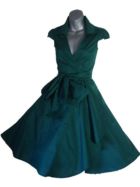 rockabilly swing green swing pinup rockabilly dress look for the stars