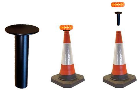 samalite magnaflash traffic cone mounting plate led 4 lights