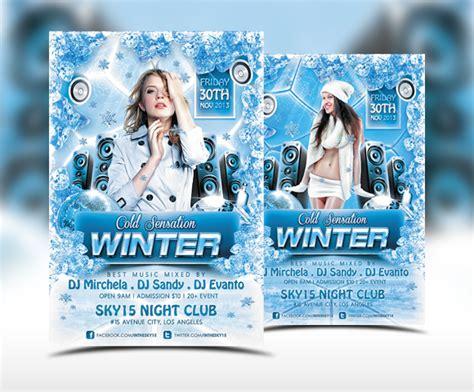 Winter Cold Sensation Flyer Template By Ranvx54 On Deviantart Winter Flyer Template