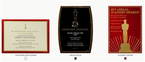 academy awards printable themed card template must oscar invite the celebration society
