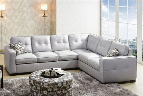 Gray Leather Sectional Sofa Grey Sectional Leather Grey Sectional