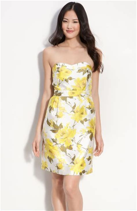 You Asked We Found Kate Walshs Yellow Dress by Kate Spade Strapless Silk Dress In Yellow