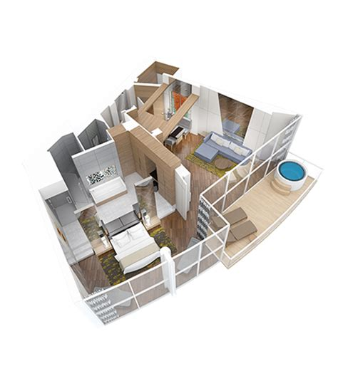 royal caribbean floor plan owner s loft royal caribbean suite class suite class