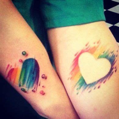 rainbow heart tattoo 12 best images on butterflies