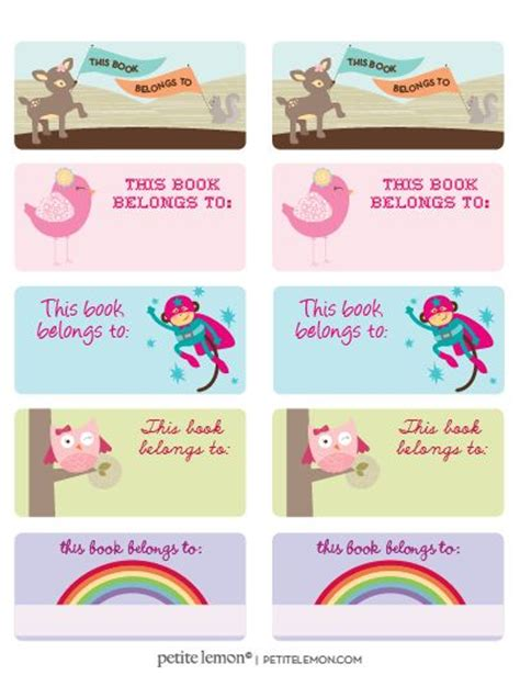 book labels template 34 best bookplates images on