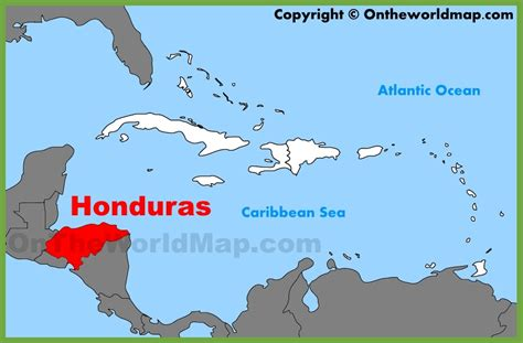 where is honduras located on the world map honduras location on the caribbean map