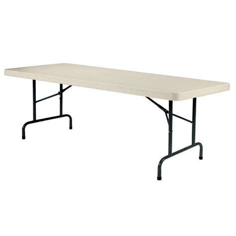 8 foot folding table home enduro earth tan banquet folding table ta3096a06 the