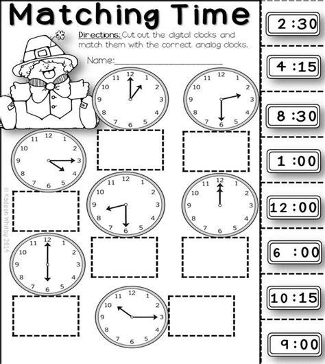 clock worksheets cut and paste 190 best images about les hores on pinterest bingo