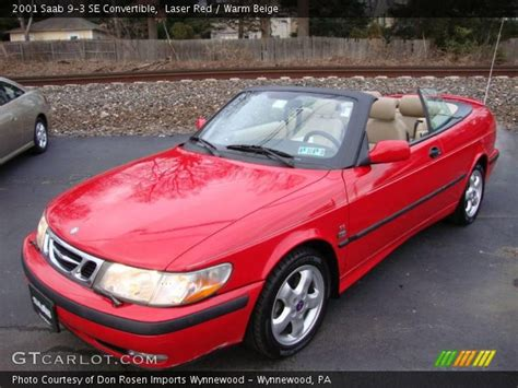 saab convertible red laser red 2001 saab 9 3 se convertible warm beige