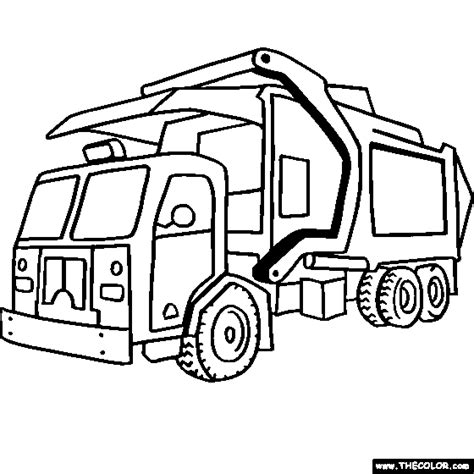 printable coloring pages garbage truck trucks coloring pages page 1