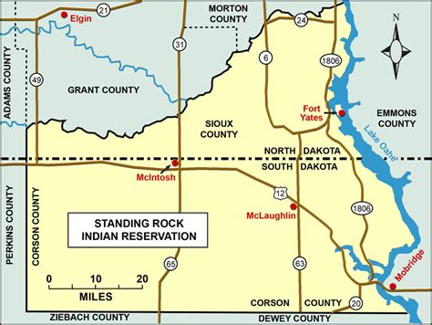 standing rock reservation map demographics dakota studies