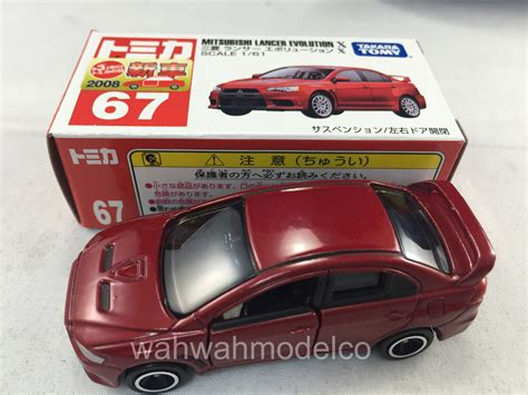Takara Tomica 67 Mitsubishi Lancer Evolution X 1 61 3 28pcs With tomica 67 mitsubishi lancer evolution x 161