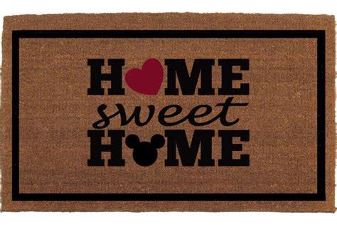 home is sweet with a disney doormat out front - Disney Hotel Door Mat