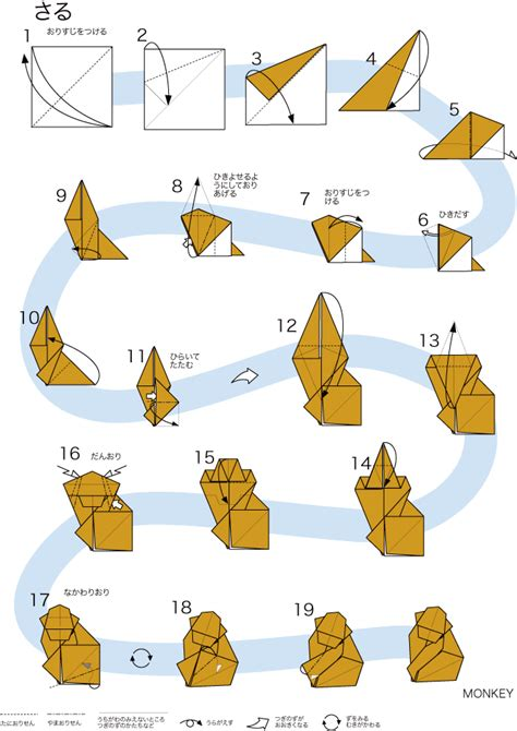 Origami Monkey Easy - origami monkey diy origami monkey and