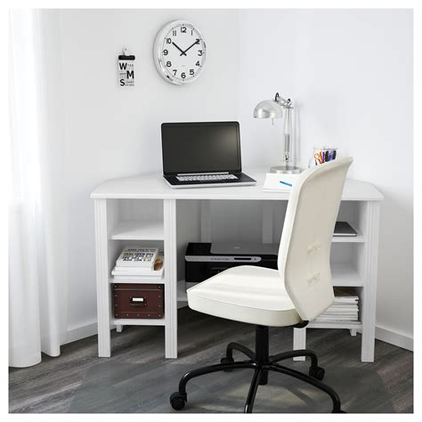 Brusali Corner Desk White 120x73 Cm Ikea Desk Ikea White