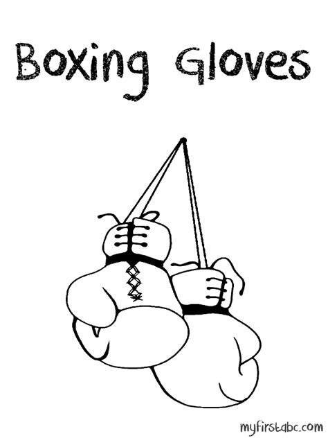 Free Coloring Pages Of Gloves Boxing Gloves Coloring Pages