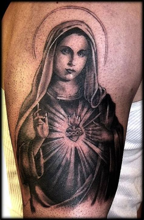 tattoo jesus maria 50 tatuagens com a virgem maria m 227 e de jesus cristo 50