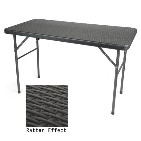 rattan effect folding chairs 4ft folding table rattan effect available at this is it
