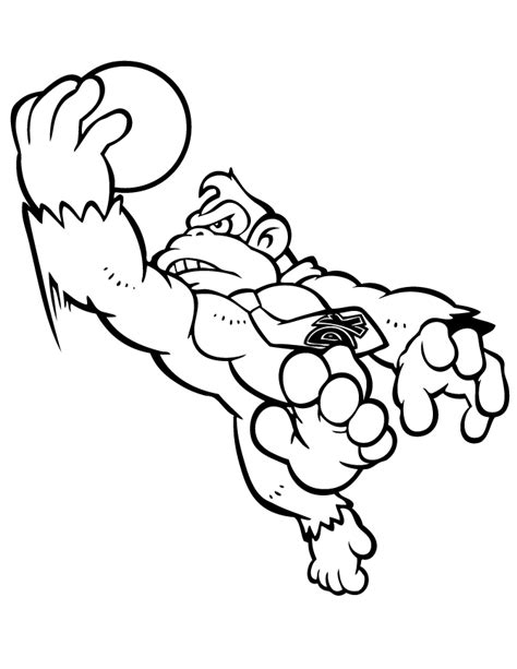 Donkey Kong Coloring Pages To Download And Print For Free Kong Coloring Pages To Print